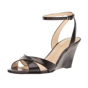 Nine West Women's Kami Leather Sandal Black 9